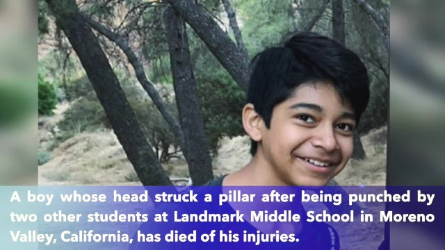 Moreno Valley, California student dies more than a week after being beaten at middle school