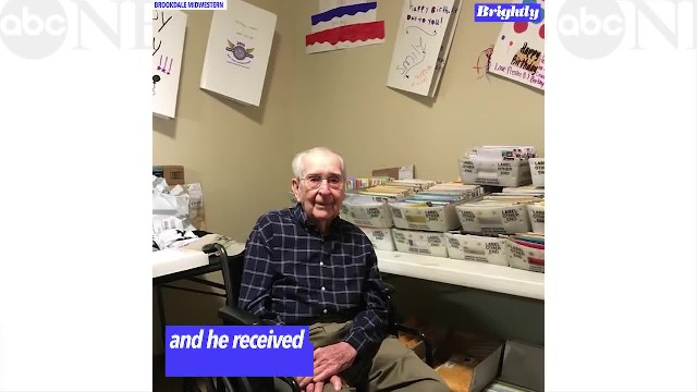 WWII veteran asks for 100 cards for his 100th birthday and gets thousands l GMA Digital
