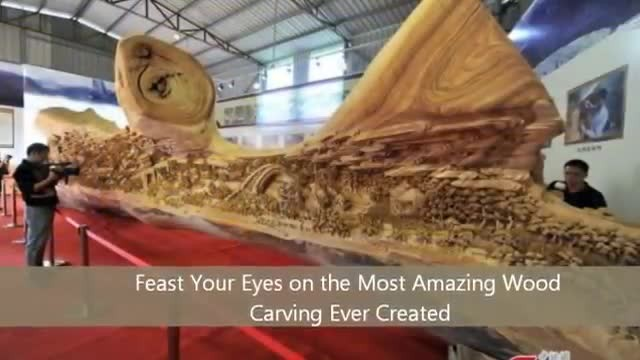 Feast your eyes on the most amazing wood carving ever created
