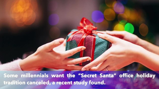 Millennials want to ban 'Secret Santa' because 'it does lead to anxiety'