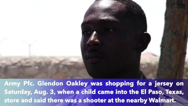 When chaos erupted in El Paso, Texas, this Army soldier's first response was to save the lives of ch