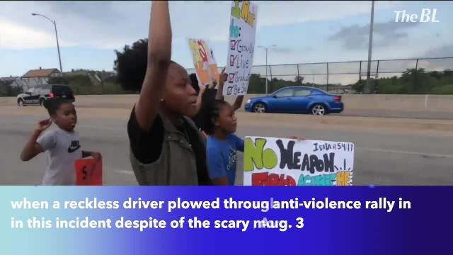 Reckless driver barreled through a crowd of 40 people gathered for anti-violence rally in Wisconsin