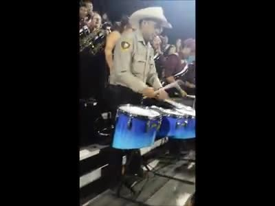 Sheriff Jumps Into High School Band Performance & Blows Students Away With Mad Skills.