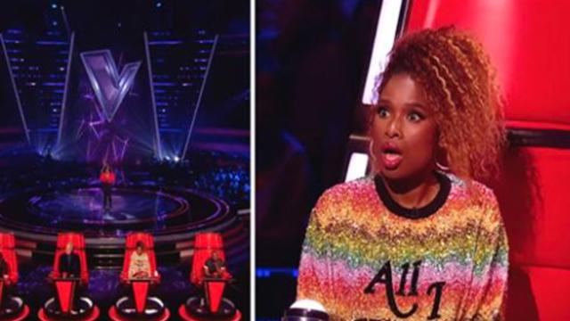 Contestant takes stage for blind audition only when judge turns she's not prepared to be wrong
