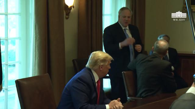 President Trump participates in a roundtable with energy sector CEOs