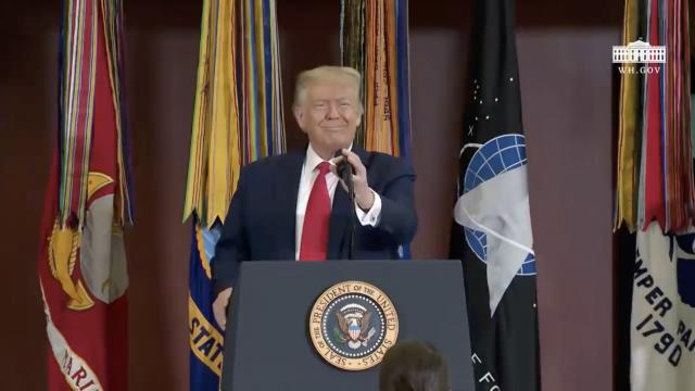 President Trump delivers remarks on SOUTHCOM enhanced counternarcotics operations
