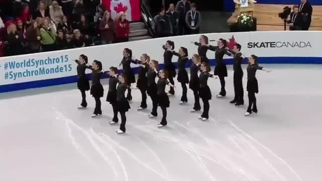 Skaters line up in perfect formation, but then the music starts at the crowd goes wild