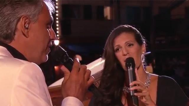 Andrea Bocelli and beloved wife sing romantic duet so beautiful everyone's eyes are on them
