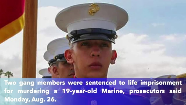 2 gang members get up to life in prison for killing 19-year-old Marine