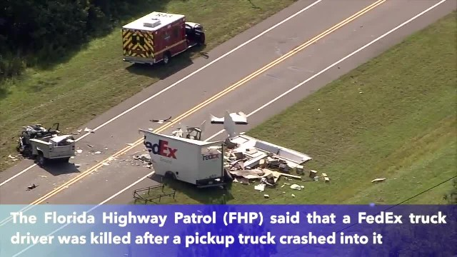 FedEx truck driver killed in head-on crash with pickup truck in Florida