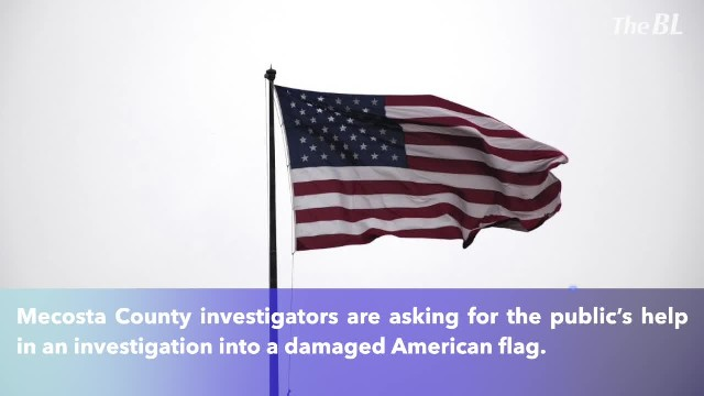 American flag cut into pieces, thrown into creek in Mecosta County
