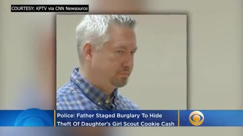 A Dad Stole His Daughter's Girl Scout Money, Then Staged A Burglary To Cover It Up