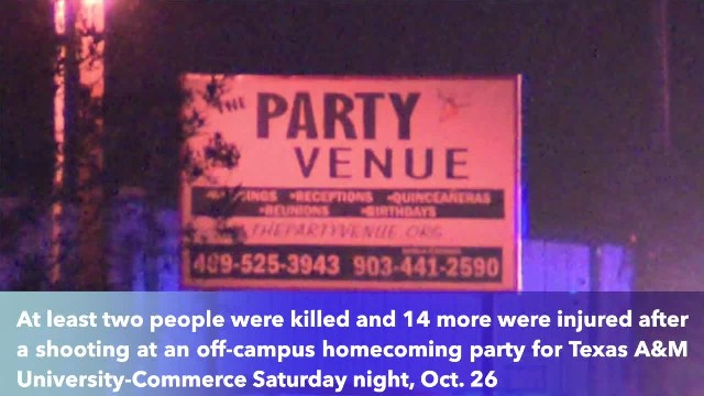 Shooting at Texas homecoming party leaves 2 dead, 14 injured, police say