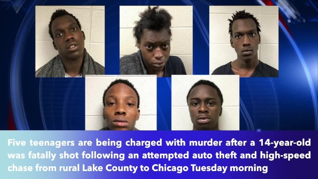 5 teens charged with murder after attempted Illinois car theft led to fatal shooting of 14-year-old!