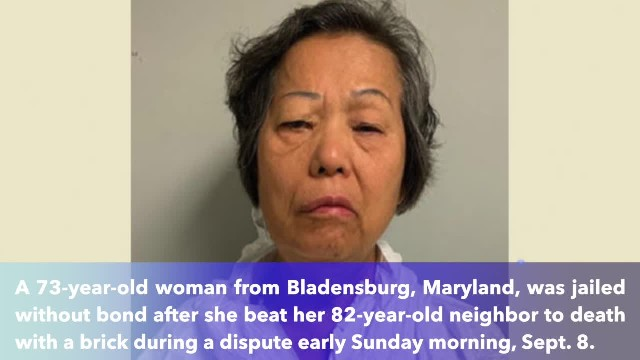 73-year-old Maryland woman murdered 82-year-old neighbor with a brick