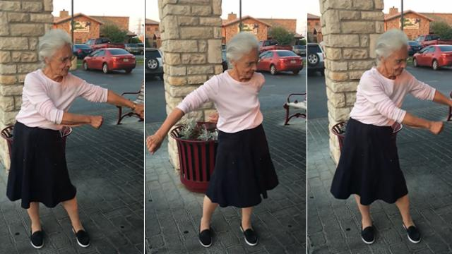 When grandma said she could dance like the kids, nobody believed her until the music started