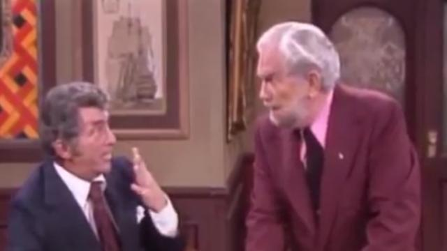 Watch Dean Martin crack up as Foster Brooks steals the show