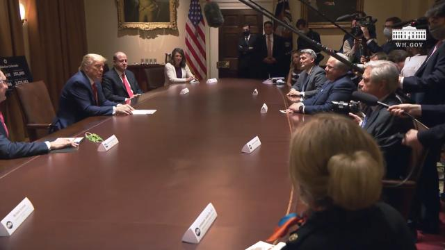 President Trump meets with the governor of Colorado and the governor of North Dakota