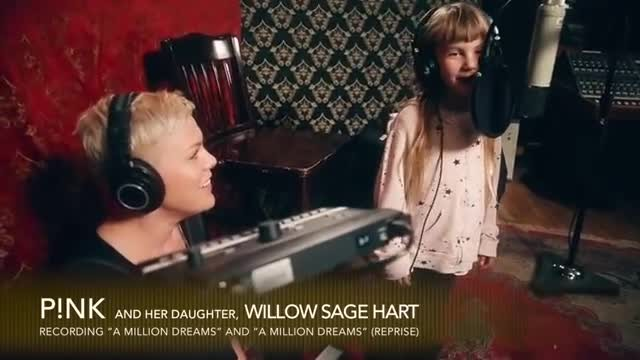 Pink and her daughter sing beautiful rendition of A Million Dreams