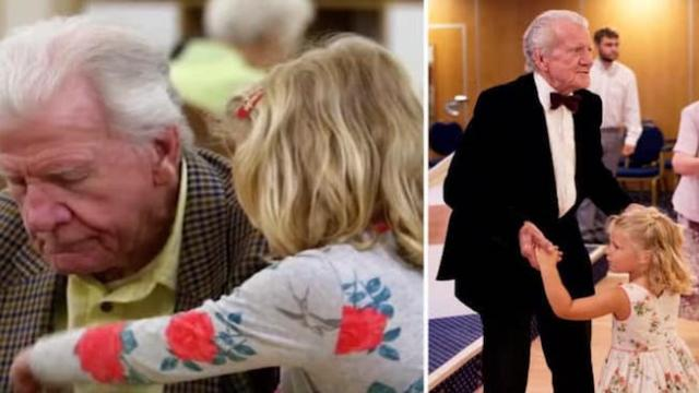 Depressed 80-yr-old widow had given up on life, until tiny girl asked him to dance