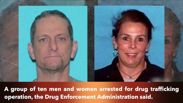 A Texas group of ten arrested for drug trafficking