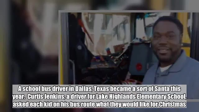 School bus driver saves his money to buy a Christmas gift for every kid on his route