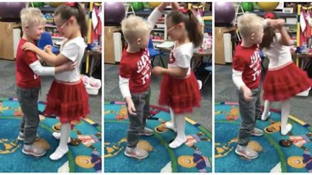 Special ed teacher captures video of best friends with Down syndrome sharing a sweet dance