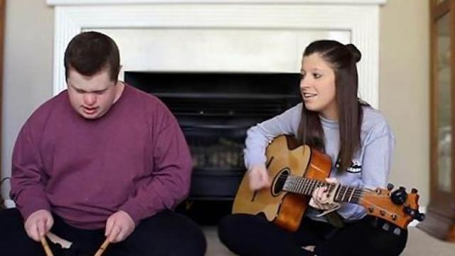 Sister starts singing 'Jolene,' but when brother joins in, he completely steals the show