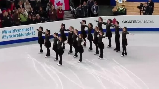 Skaters Line Up In Perfect Formation, But Then The Music Starts And The Audience Goes Wild