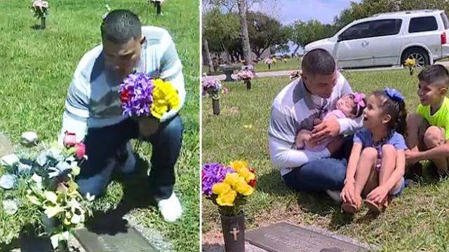 Rescued man visits the grave of army veteran who died 16 years ago while saving his life