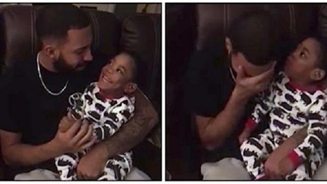Dad sings to deaf son and can't hold back tears when he sees the toddler's huge smile