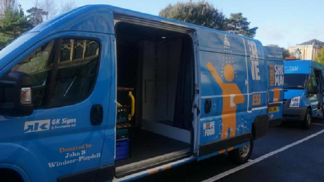 UK's first mobile shower unit for homeless people unveiled in Bournemouth