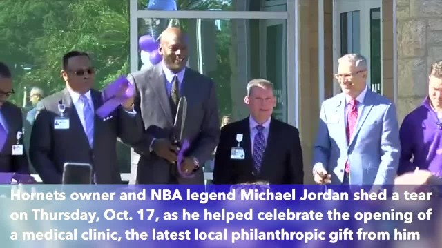 NBA legend Michael Jordan sheds tear, credits mom at opening of Novant clinic in Charlotte