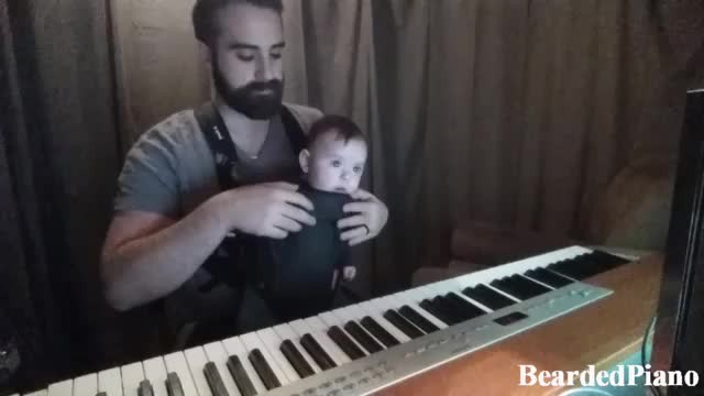 Mom couldn't get baby back to sleep. The song dad plays is absolutely perfect