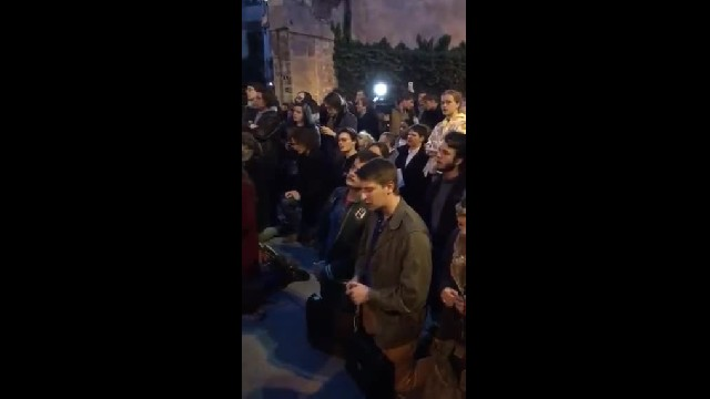 Crowd Sings 'Ave Maria' As Notre-Dame Cathedral Burns