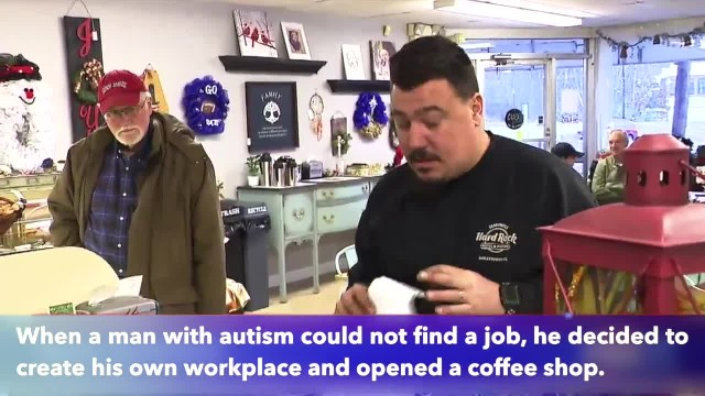 Autistic man opens coffee shop in Rhode Island after being denied employment