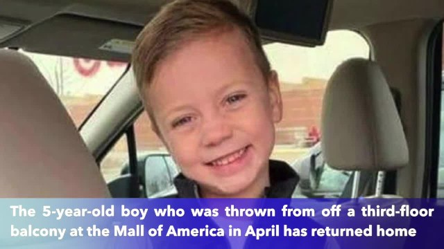 5-year-old boy thrown from Mall of America balcony returns home