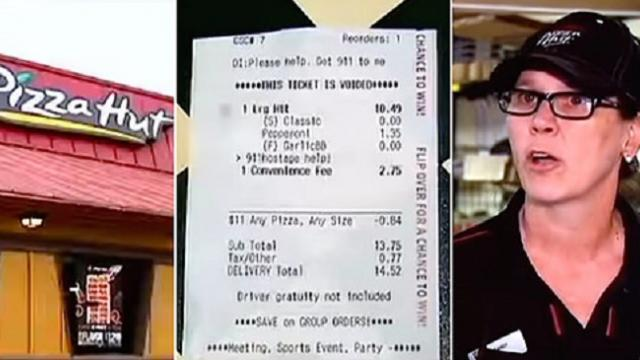 Mom convinces boyfriend to let her order pizza and puts message about his abuse in the comments