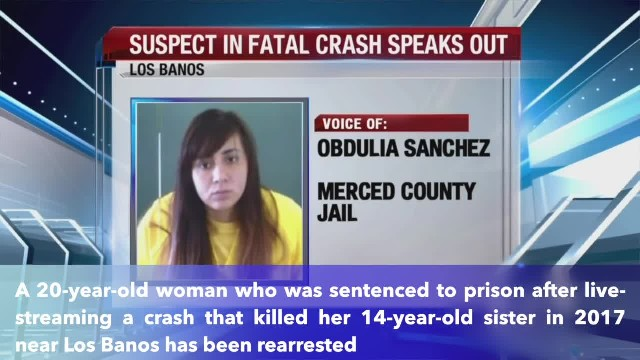 California woman live-streamed crash that killed sister 2 years ago rearrested after police chase