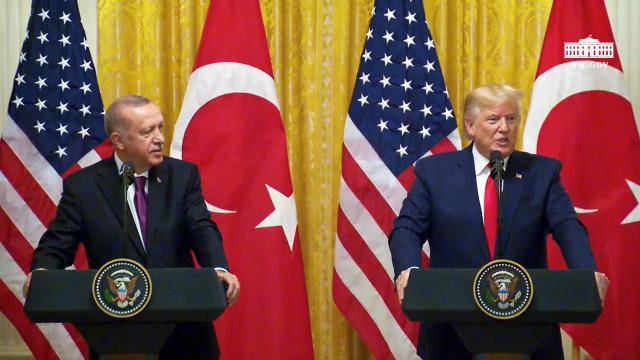 President Trump Participates in a Joint Press Conference with the President of Turkey