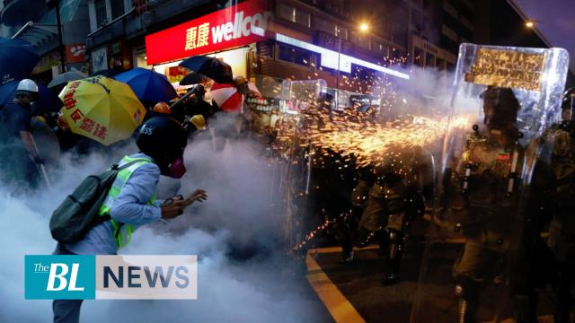 Police, pro-democracy activists clash in Hong Kong
