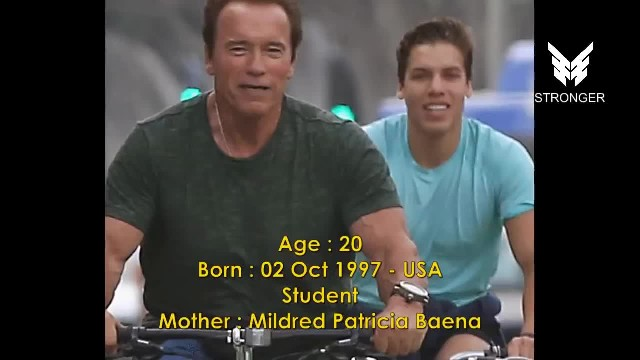 Arnold Schwarzenegger's son shows off his muscles and channels his father in his classic pose