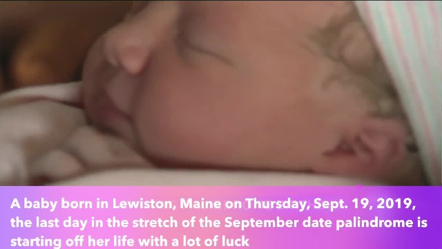 Lucky Maine baby came into world on 9-19-19 at 9-19 measuring 19 inches long