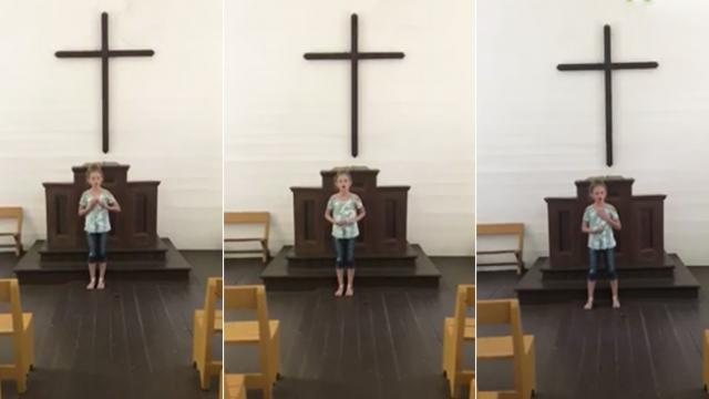 12-year-old girl sings at an empty church, what happens next