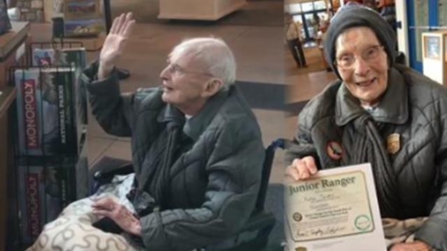Meet the sweet 103-year-old great-great-grandmother who just became a junior park ranger