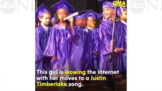 During ceremony sassy little girl unleashes dance moves making her an internet sensation