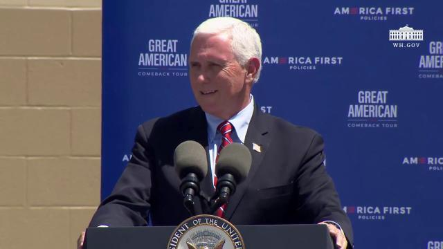 Vice President Pence delivers remarks to employees at Casadei steel inc. on opening up America again