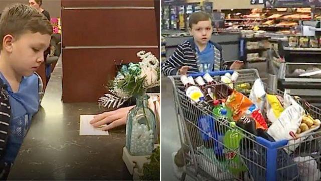 4th grader takes out his life savings – uses it to shop for homeless