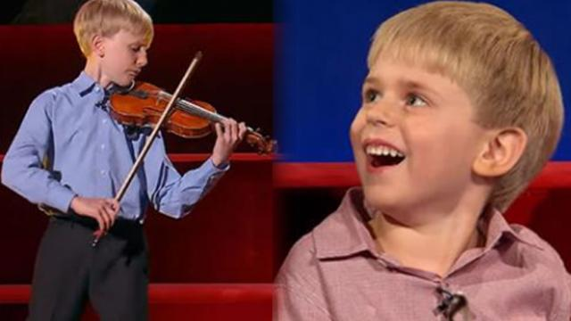 9-yr-old violin prodigy wows crowd, then little brother crashes the interview!