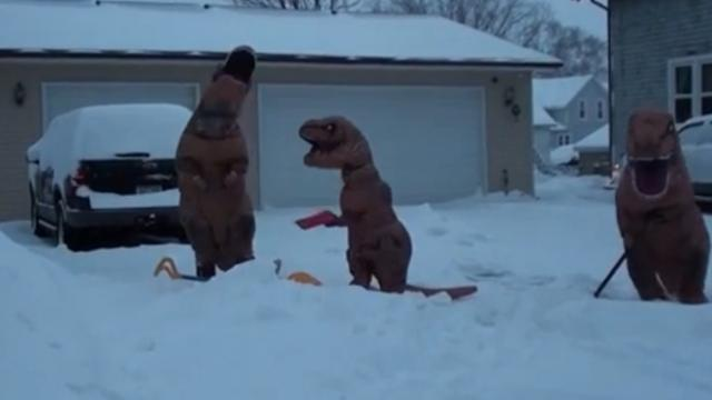 "The ""T-Rex Snow Removal Service"" has us roaring with laughter"